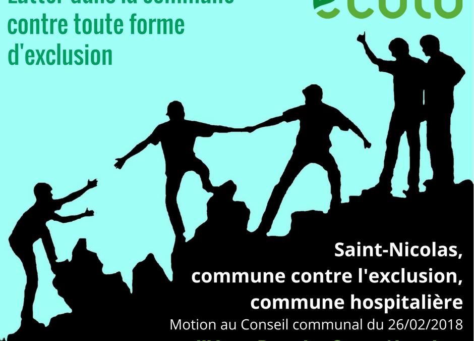 Saint-Nicolas, commune contre l'exclusion, commune hospitalière